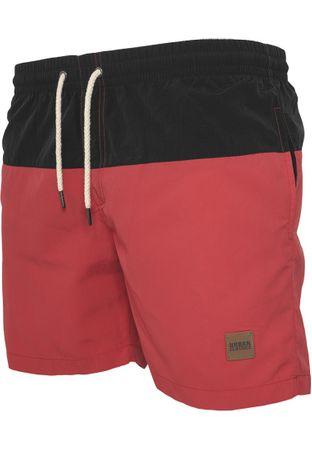 Urban Classics Block Swim Shorts in schwarz-rot von S-5XL – Bild 4