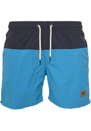 Urban Classics Block Swim Shorts in navy-türkis von S-5XL – Bild 4
