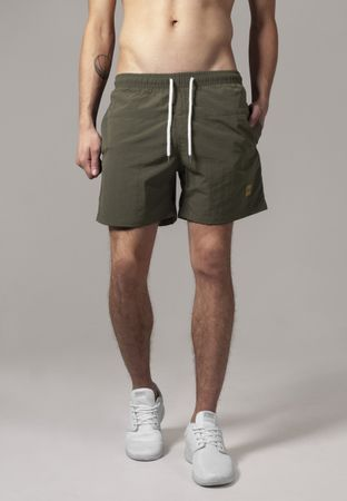 Urban Classics Block Swim Shorts in olive von S-5XL – Bild 1