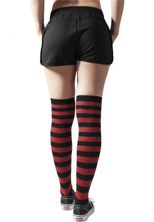 Urban Classics Ladies Striped Socken in schwarz-rot – Bild 2