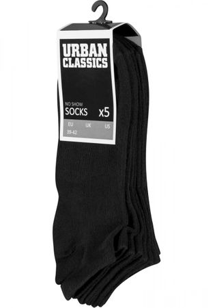 Urban Classics No Show Socken 5-Pack in schwarz – Bild 2