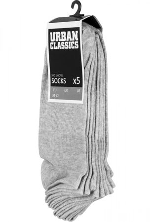 Urban Classics No Show Socken 5-Pack in grau – Bild 1