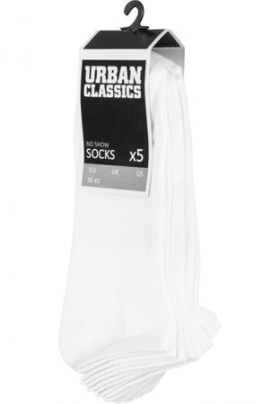 Urban Classics No Show Socken 5-Pack in weiß – Bild 1