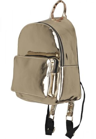Urban Classics Midi Metallic Backpack / Rucksack in gold – Bild 2