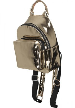 Urban Classics Mini Midi Metallic Backpack / Rucksack in gold – Bild 1