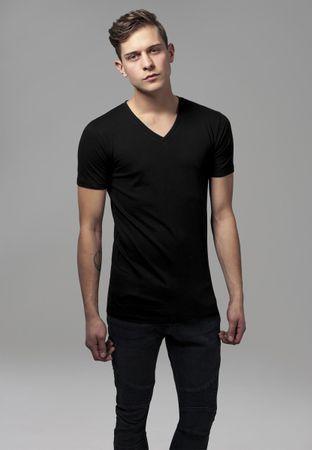 Urban Classics Basic V-Neck T-Shirts in schwarz von S-2XL – Bild 1