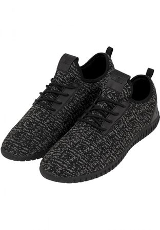 Urban Classics Knitted Light Runner Shoe in schwarz-grau von 36-47 – Bild 1