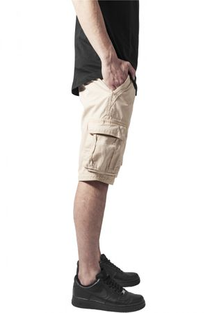 Urban Classics Fitted Cargo Shorts in beige von W28-W38 – Bild 3