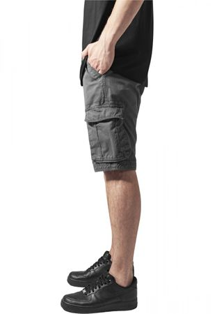 Urban Classics Fitted Cargo Shorts in dunkelgrau von W28-W38 – Bild 3