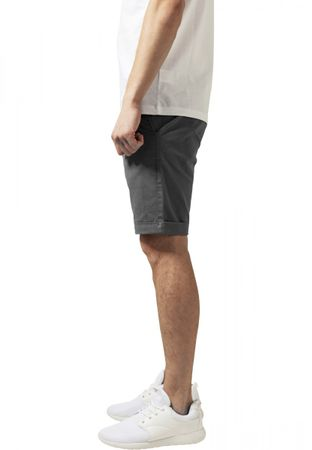 Urban Classics Stretch Turnup Chino Shorts in grau von W28-W38 – Bild 3