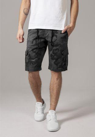 Urban Classics Camo Cargo Shorts in graucamo von W30-W38 – Bild 1