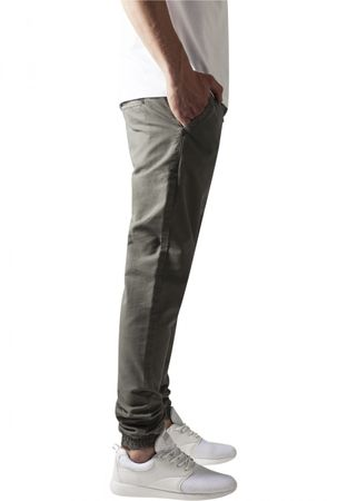 Urban Classics Washed Canvas Jogging Pants in olive von S-2XL – Bild 4