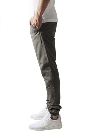 Urban Classics Washed Canvas Jogging Pants in olive von S-2XL – Bild 3