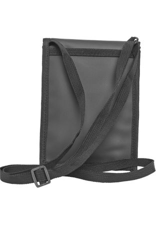 Urban Classics Neck Pouch Coated Crossbag in schwarz – Bild 2