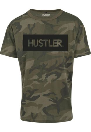 Hustler Logo Camo Fashion Hipster Tee in wood von S-2XL – Bild 1