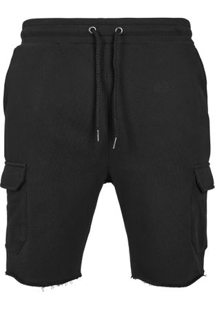 Urban Classics Open Edge Terry Cargo Shorts in schwarz von S-2XL – Bild 2