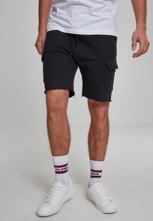 Urban Classics Open Edge Terry Cargo Shorts in schwarz von S-2XL – Bild 1