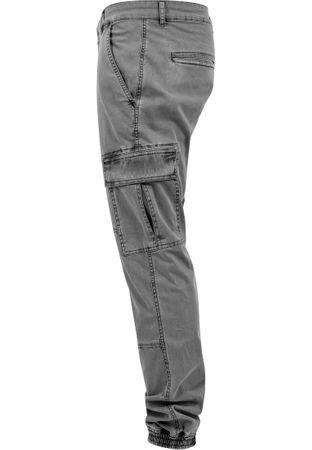 Urban Classics Washed Cargo Twill Jogging Pants in grau von Weite 30-38 – Bild 6