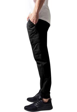 Urban Classics Washed Cargo Twill Jogging Pants in schwarz von Weite 30-38 – Bild 4