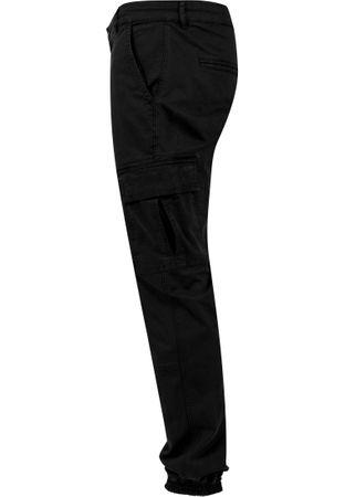 Urban Classics Washed Cargo Twill Jogging Pants in schwarz von Weite 30-38 – Bild 6