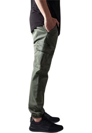 Urban Classics Washed Cargo Twill Jogging Pants in olive von Weite 30-38 – Bild 3