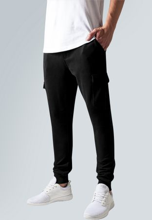 Urban Classics Fitted Cargo Sweatpants in schwarz von S-2XL – Bild 1