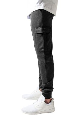 Urban Classics Fitted Cargo Sweatpants in charcoal von S-2XL – Bild 4