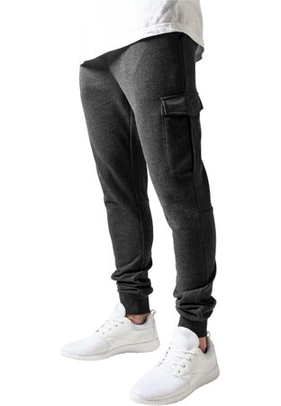 Urban Classics Fitted Cargo Sweatpants in charcoal von S-2XL – Bild 1