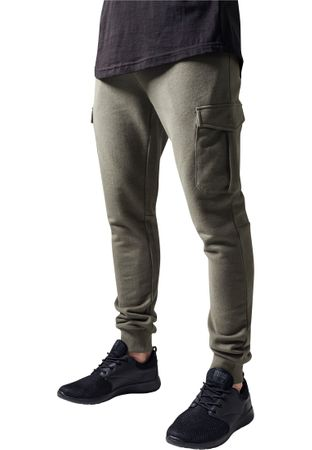 Urban Classics Fitted Cargo Sweatpants in olive von S-2XL – Bild 1