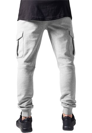 Urban Classics Fitted Cargo Sweatpants in grau von S-2XL – Bild 2