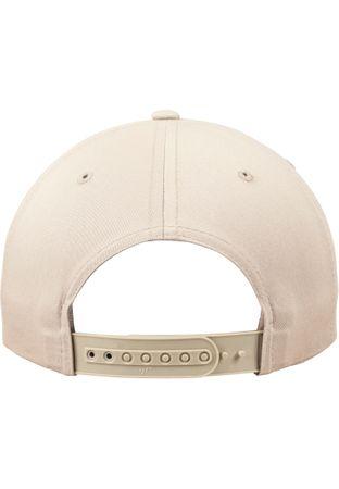 Flexfit / Yupoong Unstructured 5 Panel Snapback Cap in khaki – Bild 9