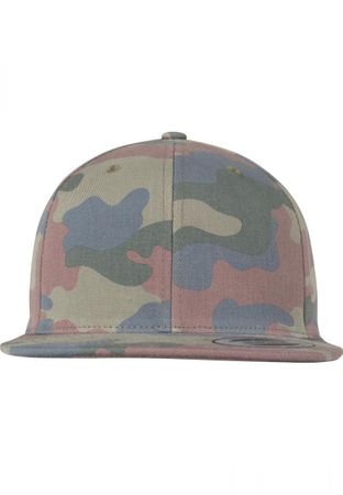 Flexfit / Yupoong Classic Cotton Camo Snapback Cap in wood – Bild 4