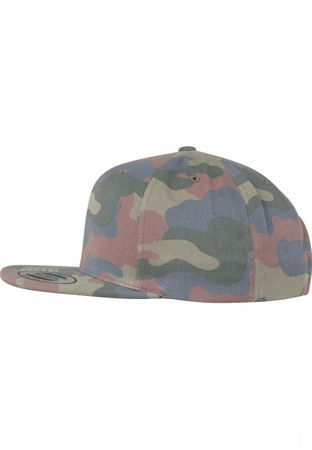 Flexfit / Yupoong Classic Cotton Camo Snapback Cap in wood – Bild 3