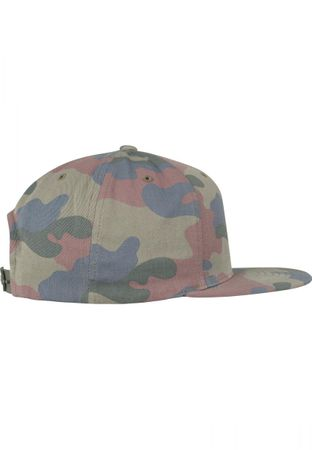 Flexfit / Yupoong Classic Cotton Camo Snapback Cap in wood – Bild 2
