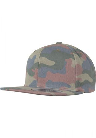 Flexfit / Yupoong Classic Cotton Camo Snapback Cap in wood – Bild 1