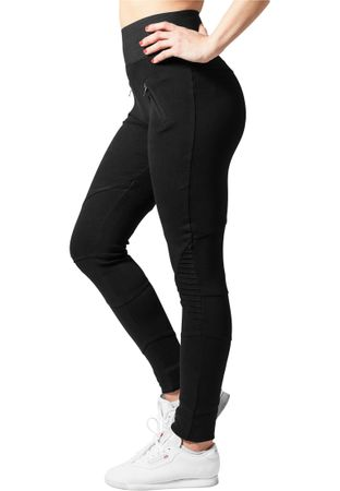 Urban Classics Ladies Interlock High Waist Leggings in schwarz von XS-XL – Bild 4