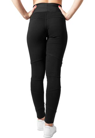 Urban Classics Ladies Interlock High Waist Leggings in schwarz von XS-XL – Bild 2