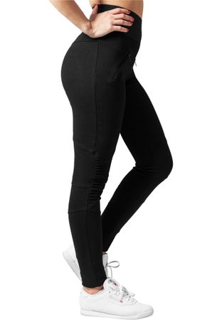 Urban Classics Ladies Interlock High Waist Leggings in schwarz von XS-XL – Bild 3