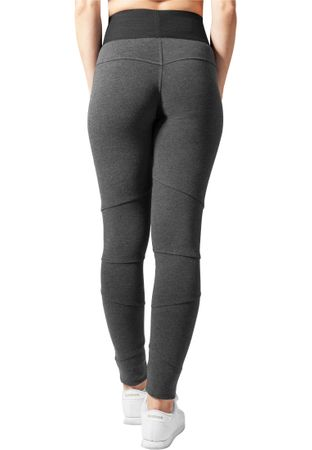 Urban Classics Ladies Interlock High Waist Leggings in charcoal von XS-XL – Bild 2
