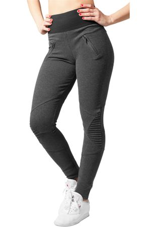 Urban Classics Ladies Interlock High Waist Leggings in charcoal von XS-XL – Bild 1