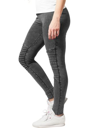 Urban Classics Ladies Denim Jersey Leggings in dunkelgrau von XS-5XL – Bild 3