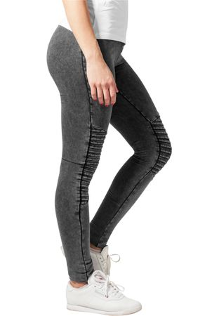 Urban Classics Ladies Denim Jersey Leggings in dunkelgrau von XS-5XL – Bild 2