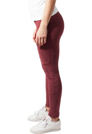 Urban Classics Ladies Denim Jersey Leggings in burgundy von XS-5XL – Bild 4