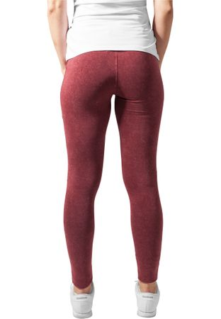 Urban Classics Ladies Denim Jersey Leggings in burgundy von XS-5XL – Bild 2