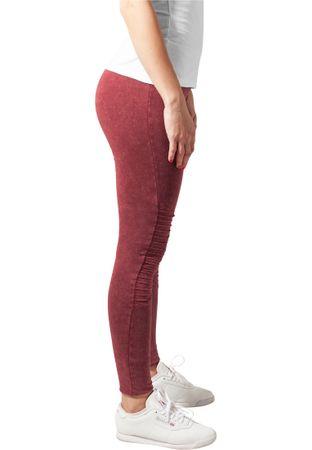 Urban Classics Ladies Denim Jersey Leggings in burgundy von XS-5XL – Bild 3