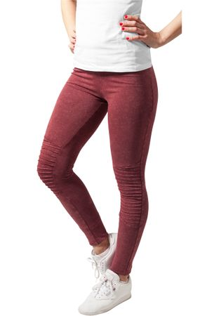 Urban Classics Ladies Denim Jersey Leggings in burgundy von XS-5XL – Bild 1