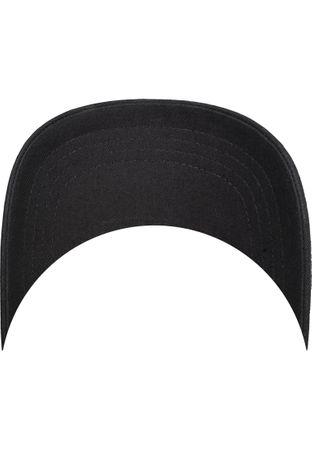 Flexfit / Yupoong Curved Visor Cap in schwarz – Bild 7