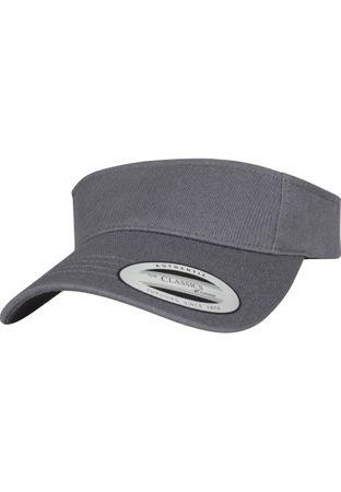 Flexfit / Yupoong Curved Visor Cap in dunkelgrau – Bild 1