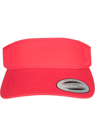 Flexfit / Yupoong Curved Visor Cap in rot – Bild 2