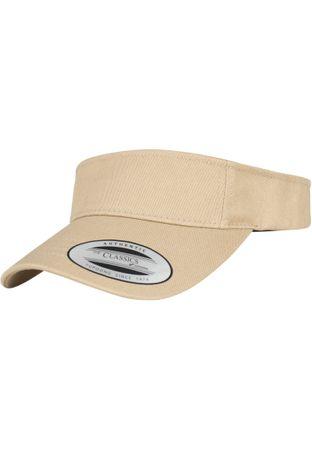 Flexfit / Yupoong Curved Visor Cap in khaki – Bild 1